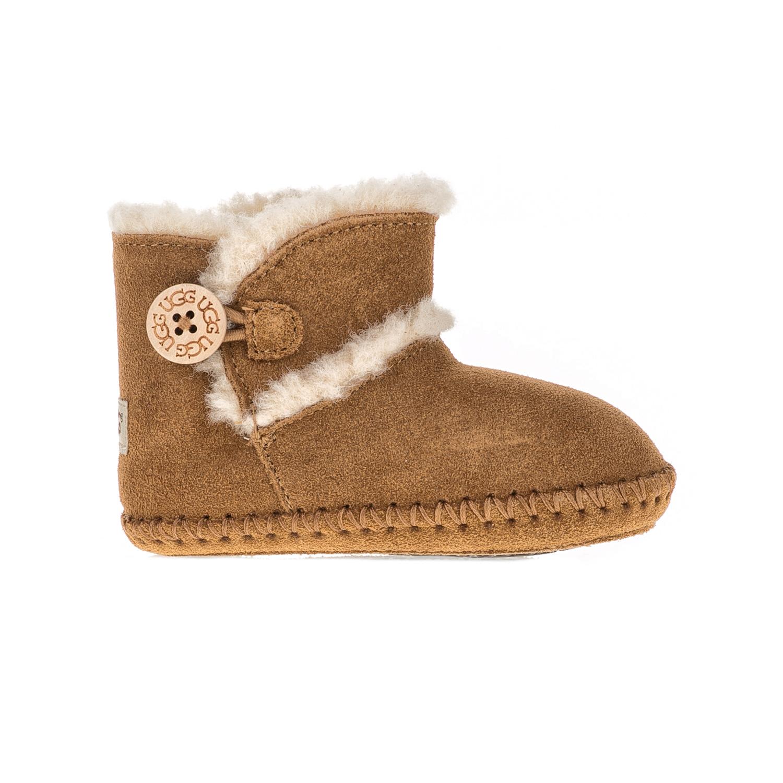 UGG AUSTRALIA - Βρεφικά μποτάκια LEMMY UGG AUSTRALIA καφέ παιδικά baby παπούτσια μπότες μποτάκια