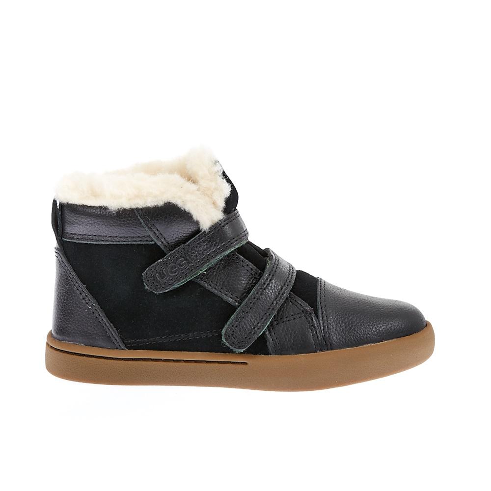 UGG AUSTRALIA - Βρεφικά παπούτσια Ugg Australia μαύρα παιδικά baby παπούτσια μπότες μποτάκια