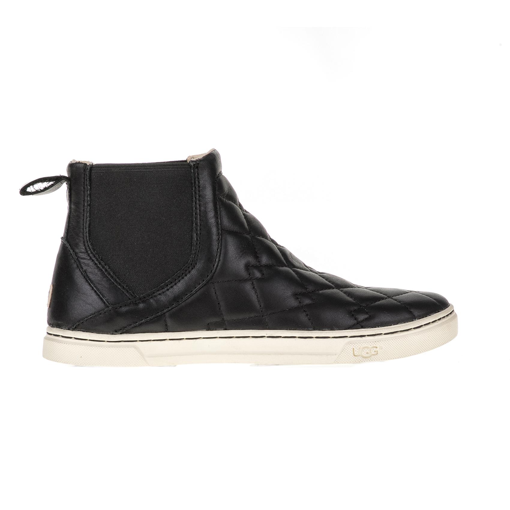 UGG AUSTRALIA - Γυναικεία μποτάκια HOLLYN DECO QUILT UGG AUSTRALIA μαύρα γυναικεία παπούτσια μπότες μποτάκια μποτάκια