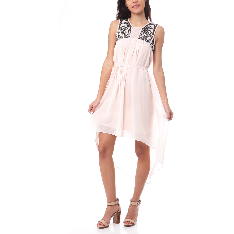 MOLLY BRACKEN - Γυναικείο φόρεμα MOLLY BRACKEN ροζ γυναικεία ρούχα φορέματα μίνι