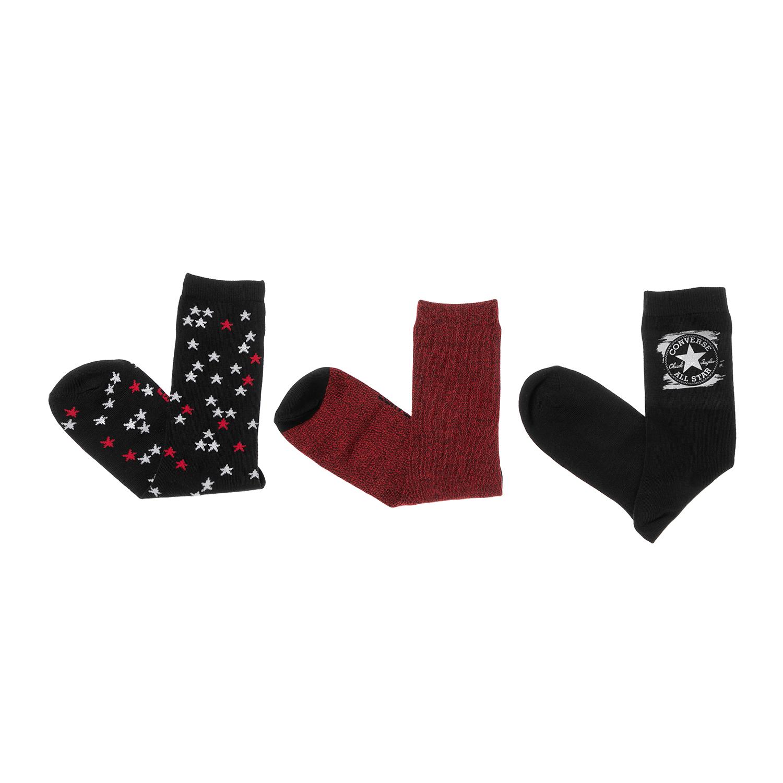 CONVERSE – Γυναικείο σετ κάλτσες CONVERSE κόκκινο-μαύρο