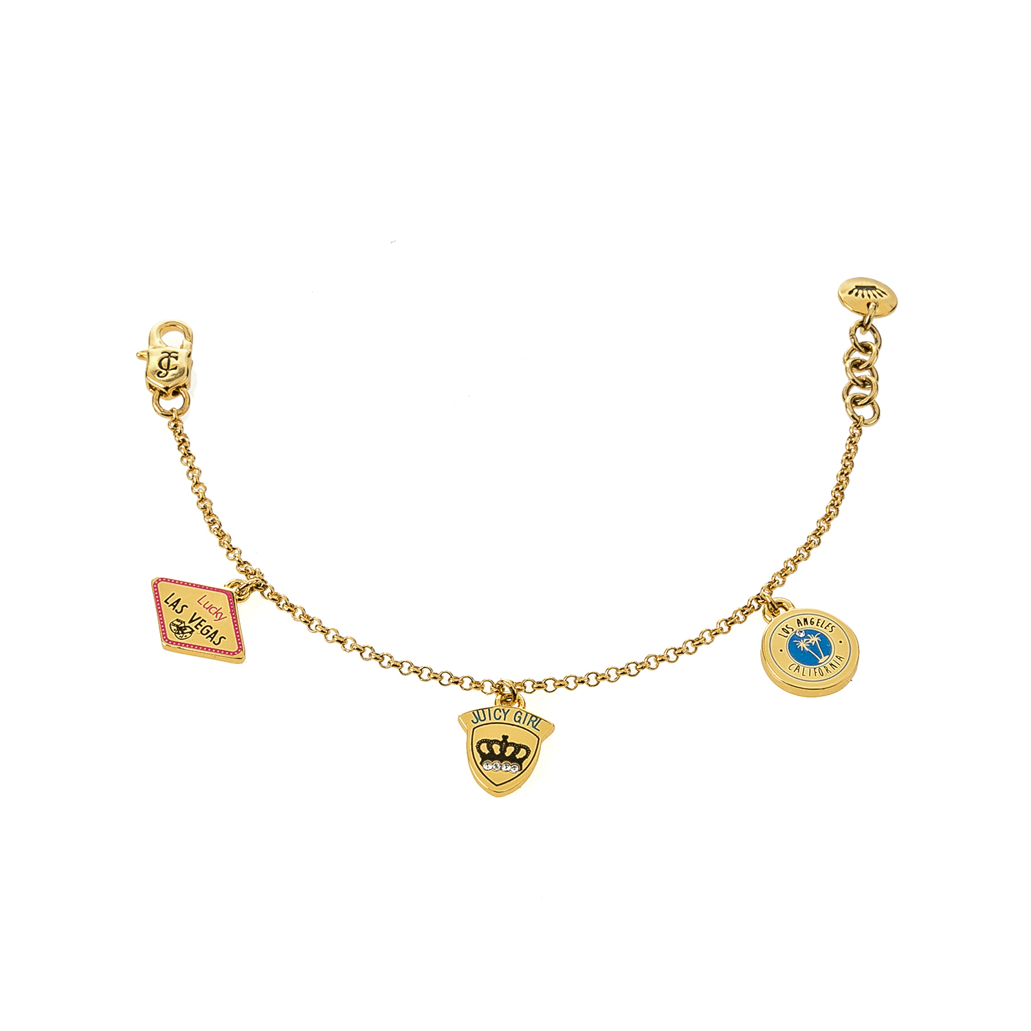 JUICY COUTURE KIDS – Βραχιόλι με charms χρυσό