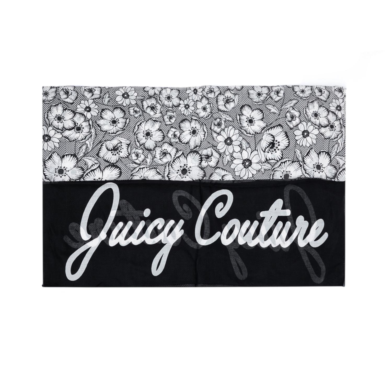 JUICY COUTURE - Γυναικείο φουλάρι JUICY COUTURE γκρι-μαύρο γυναικεία αξεσουάρ φουλάρια κασκόλ γάντια
