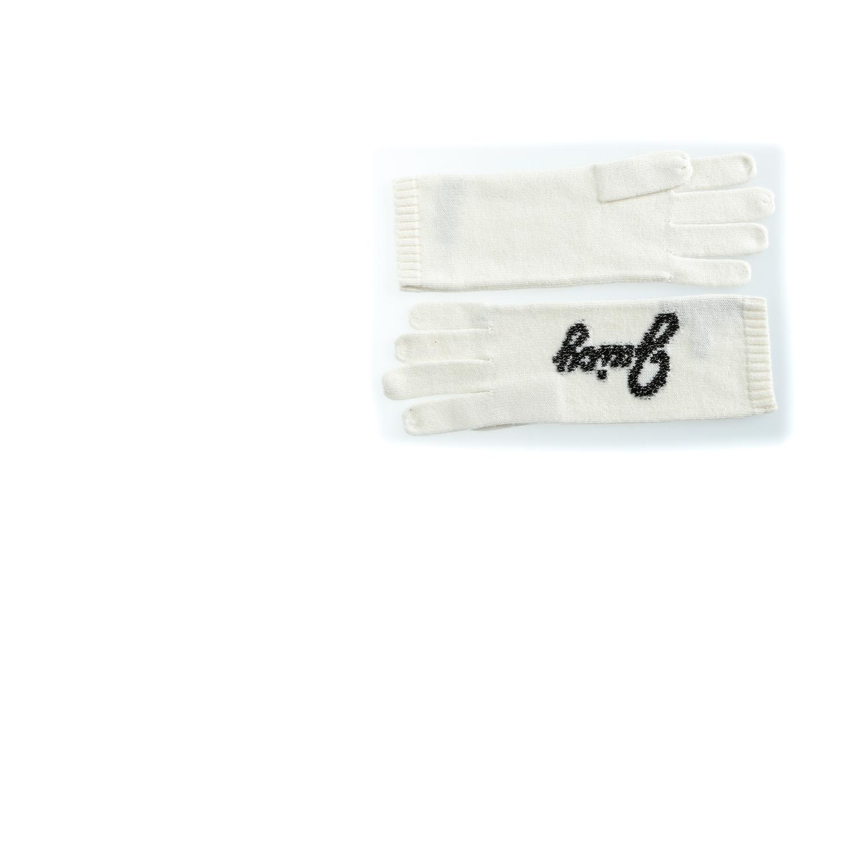 JUICY COUTURE - Γυναικεία γάντια JUICY JACQUARD λευκά γυναικεία αξεσουάρ φουλάρια κασκόλ γάντια