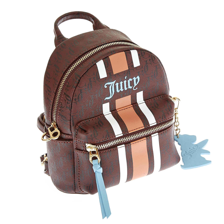 JUICY COUTURE - Γυναικεία τσάντα Juicy Couture καφέ γυναικεία αξεσουάρ τσάντες σακίδια πλάτης