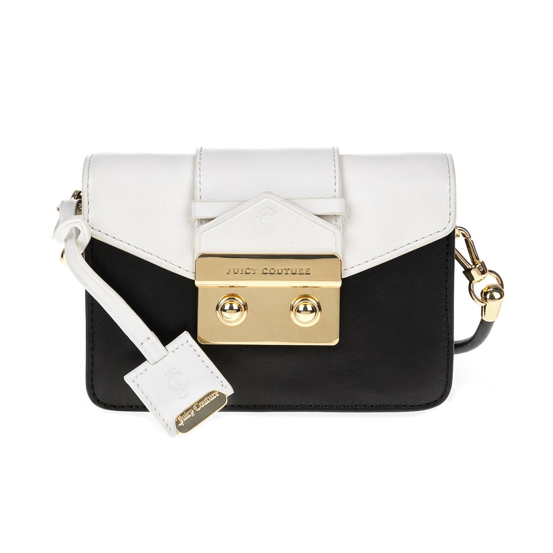 JUICY COUTURE – Γυναικεία τσάντα JUICY COUTURE ασπρόμαυρη 1474561.0-0071