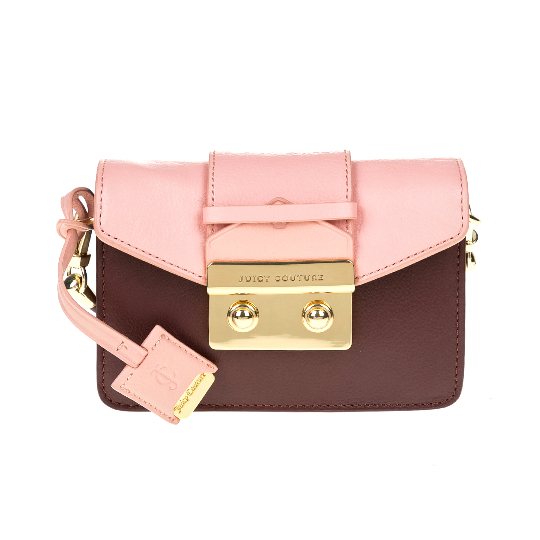 JUICY COUTURE - Γυναικεία τσάντα JUICY COUTURE μπορντό-ροζ γυναικεία αξεσουάρ τσάντες σακίδια ωμου