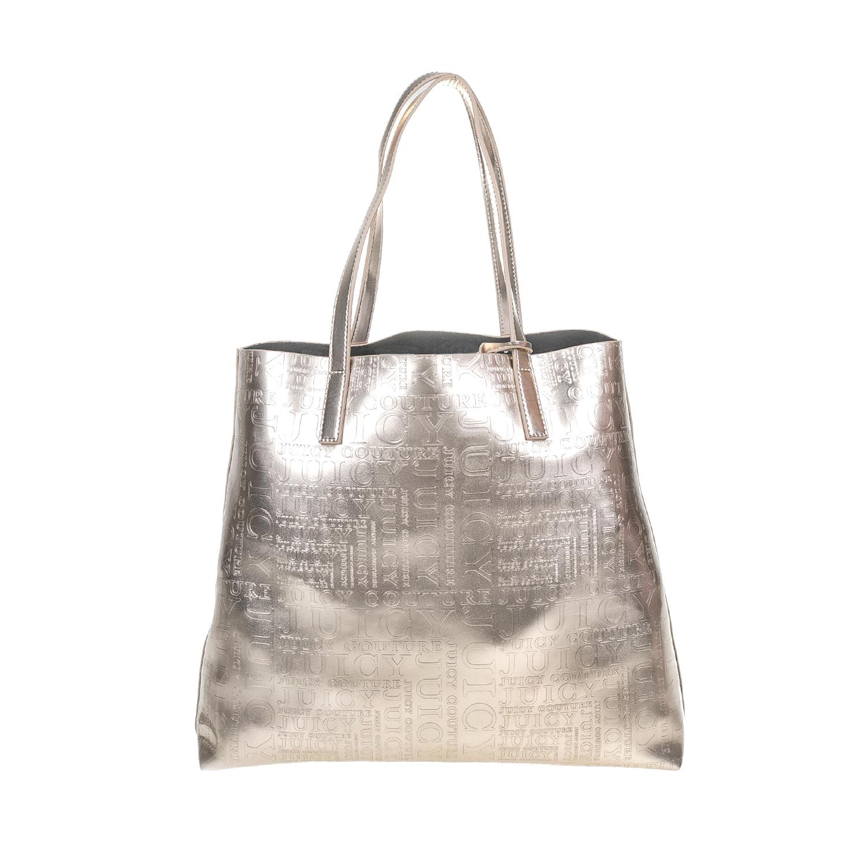 JUICY COUTURE - Γυναικεία τσάντα JUICY COUTURE ασημί γυναικεία αξεσουάρ τσάντες σακίδια ωμου