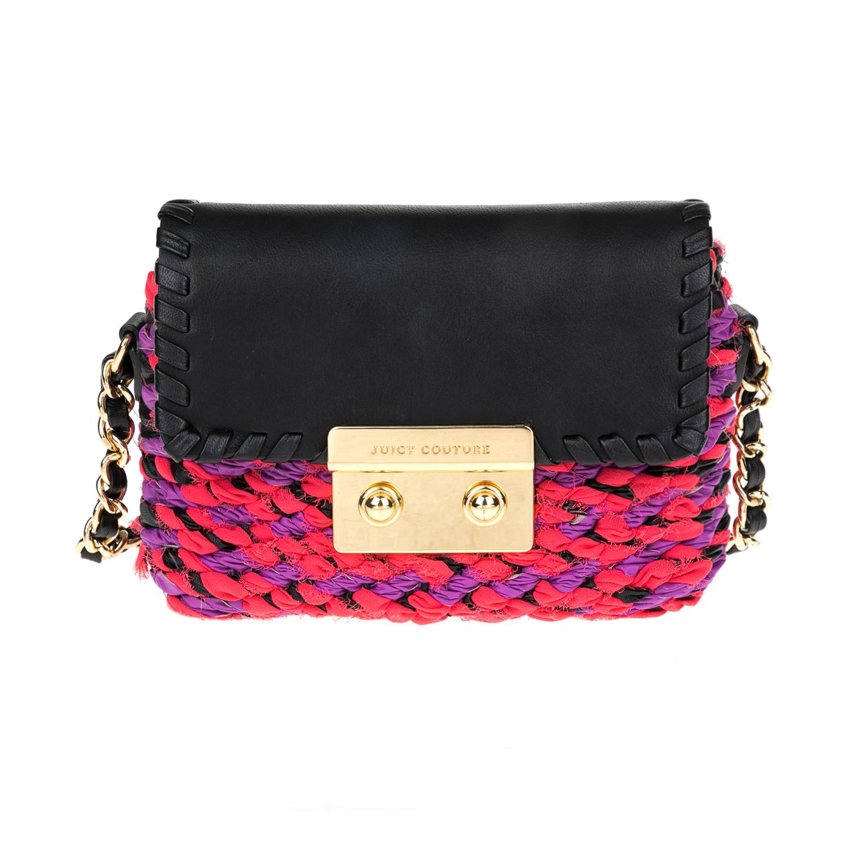 JUICY COUTURE – Γυναικεία τσάντα JUICY COUTURE μαύρη-ροζ