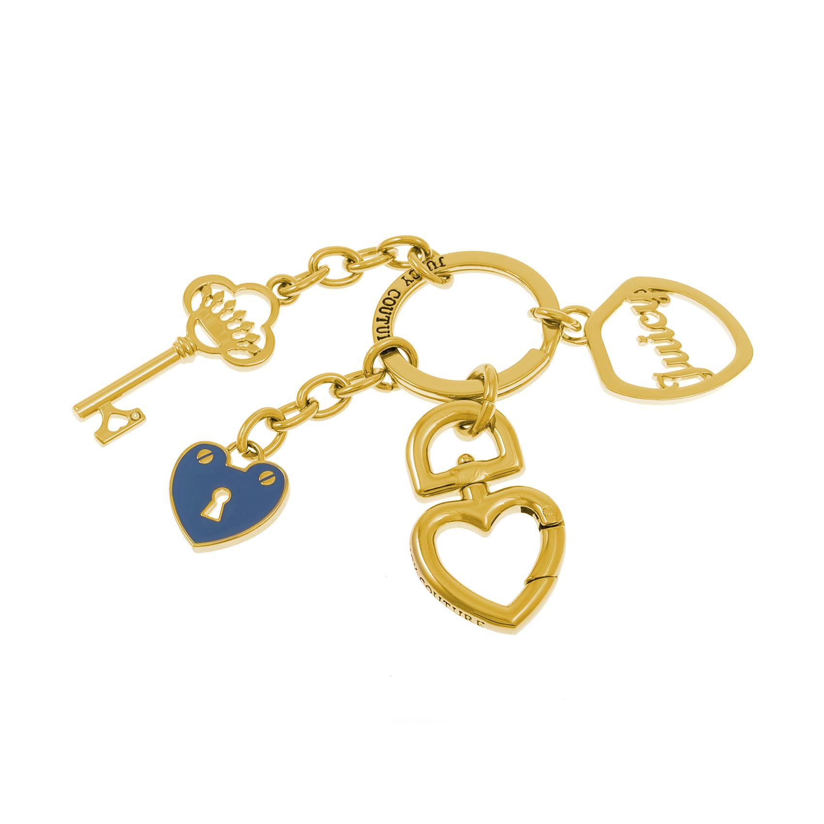 JUICY COUTURE – Μπρελόκ σφυρίχτρα JUICY COUTURE χρυσό-μπλε