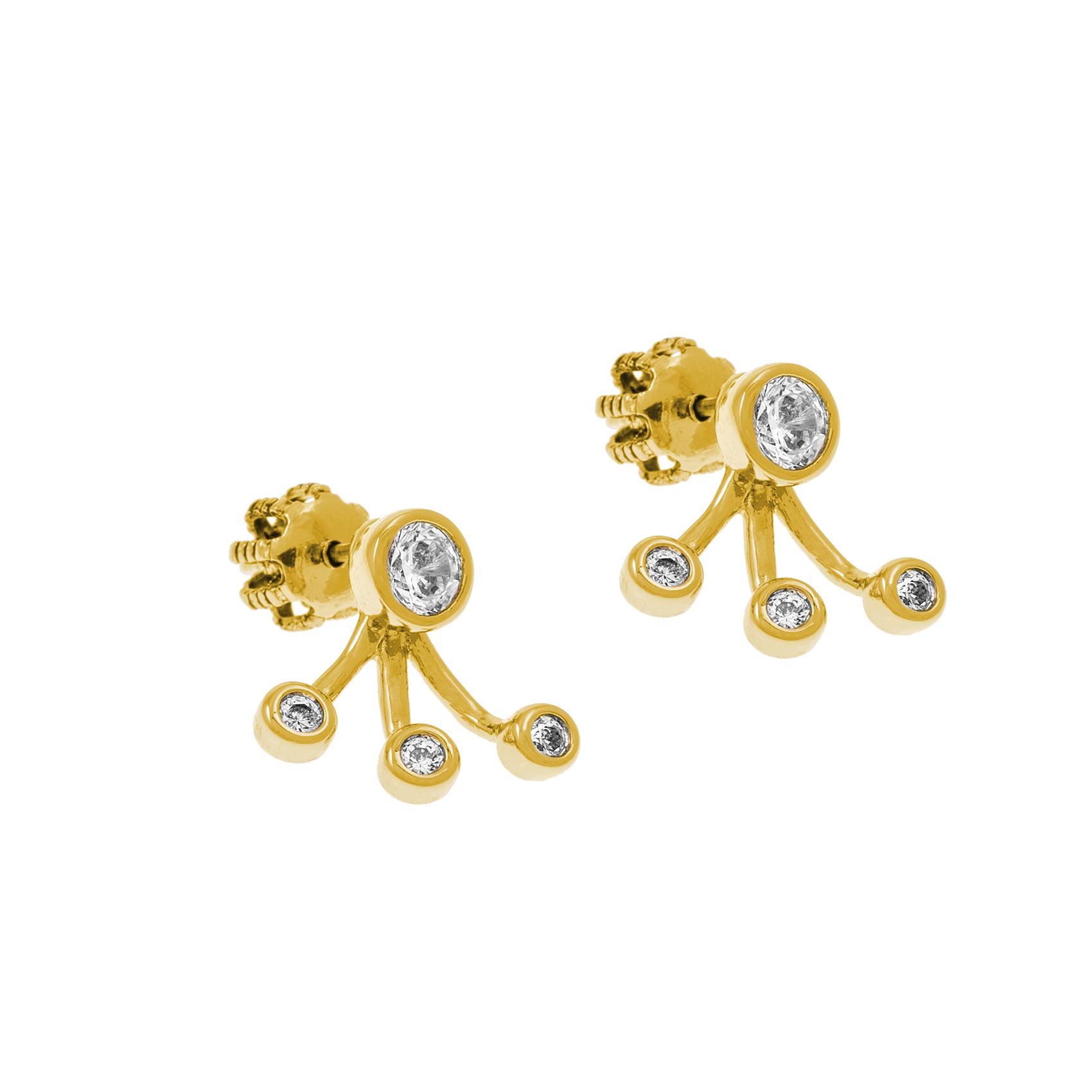JUICY COUTURE – Γυναικεία σκουλαρίκια JUICY COUTURE χρυσά
