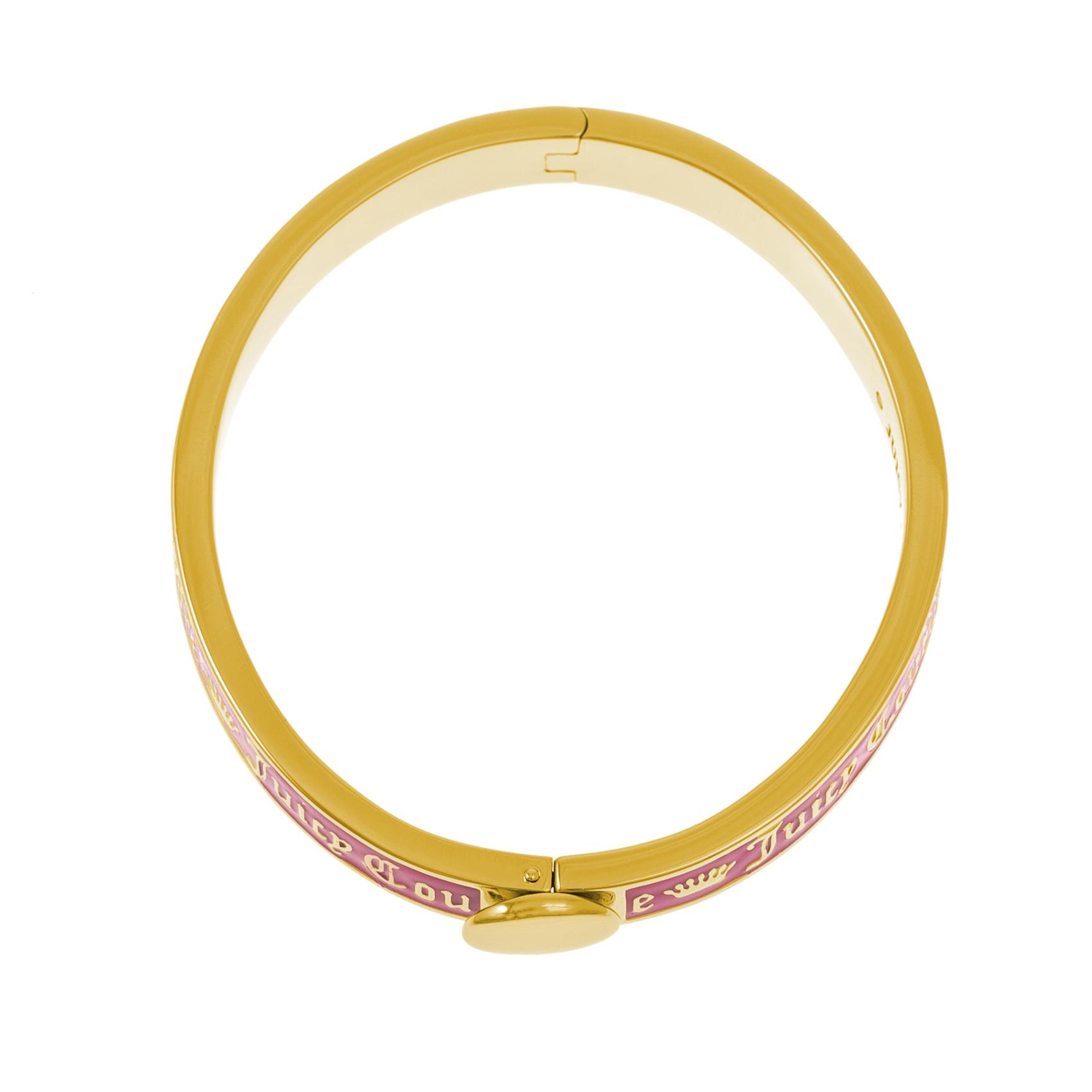 JUICY COUTURE - Βραχιόλι JUICY COUTURE ροζ-χρυσό γυναικεία αξεσουάρ κοσμήματα βραχιόλια
