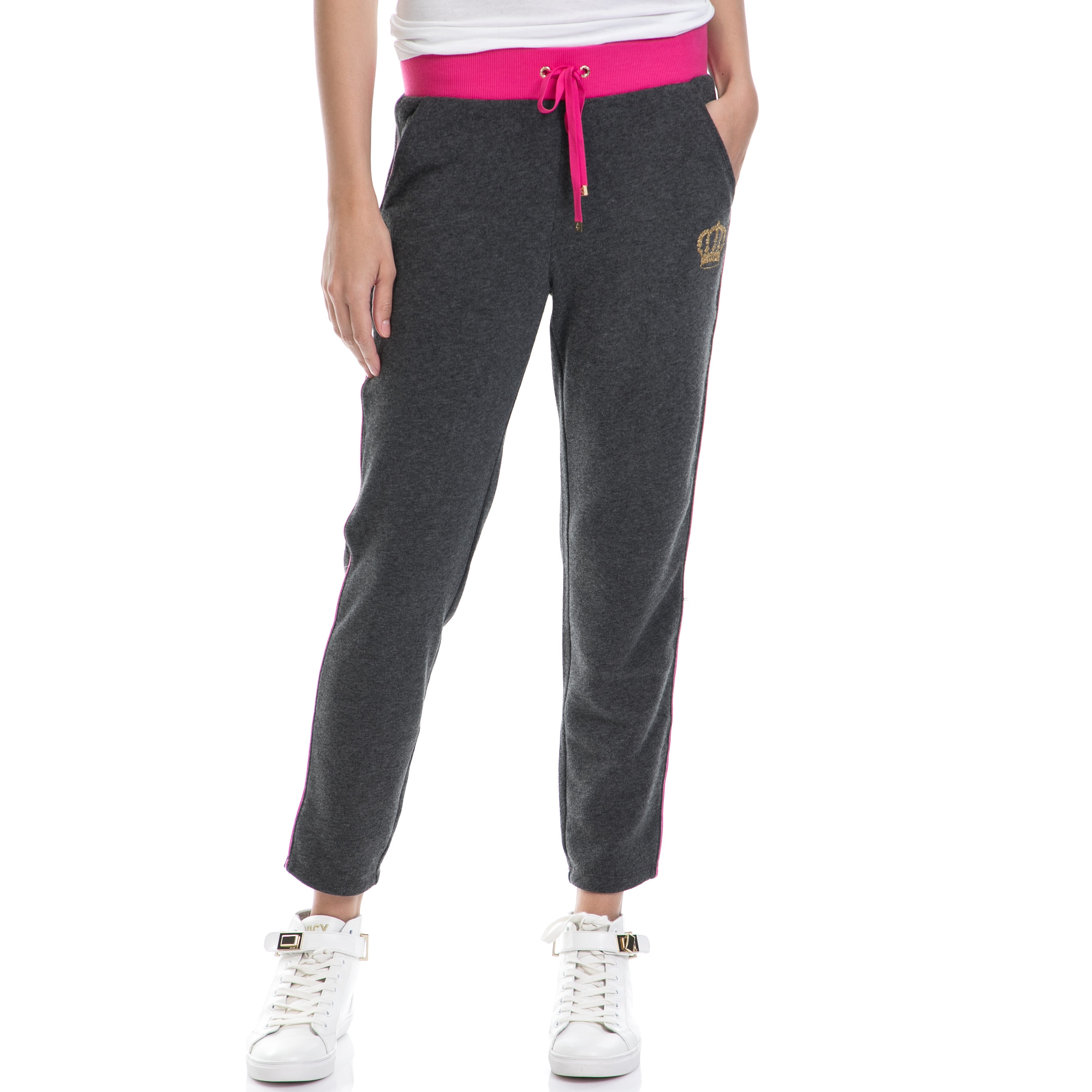JUICY COUTURE – Γυναικείο παντελόνι JUICY COUTURE γκρι