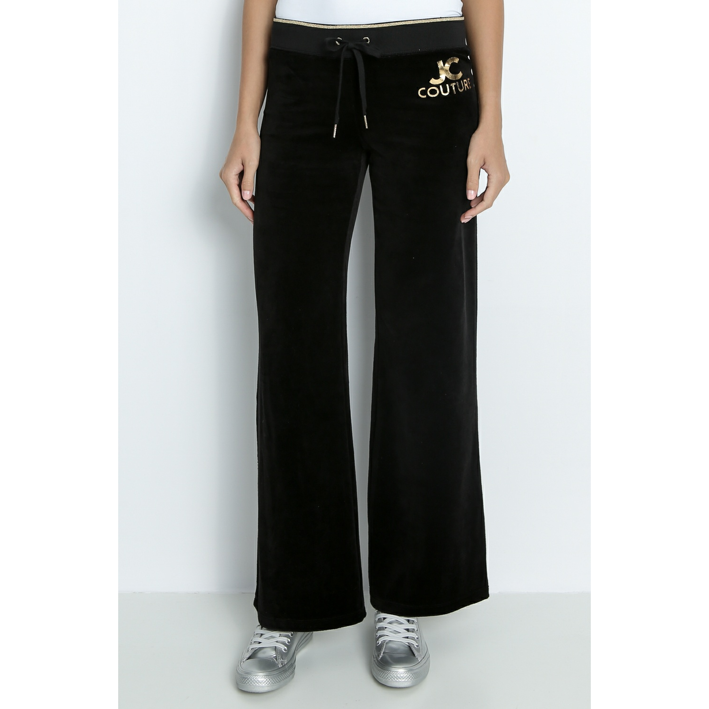 JUICY COUTURE - Γυναικείο παντελόνι φόρμας JUICY EAU DE COUTURE MALIBU μαύρο