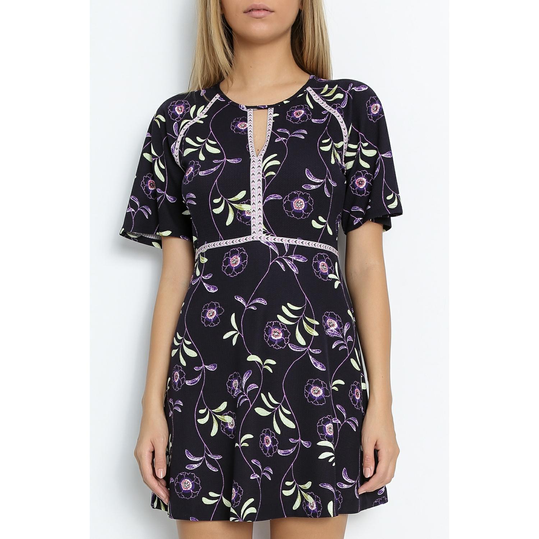 JUICY COUTURE - Μίνι φόρεμα JUICY ROMA φλοράλ γυναικεία ρούχα φορέματα μίνι