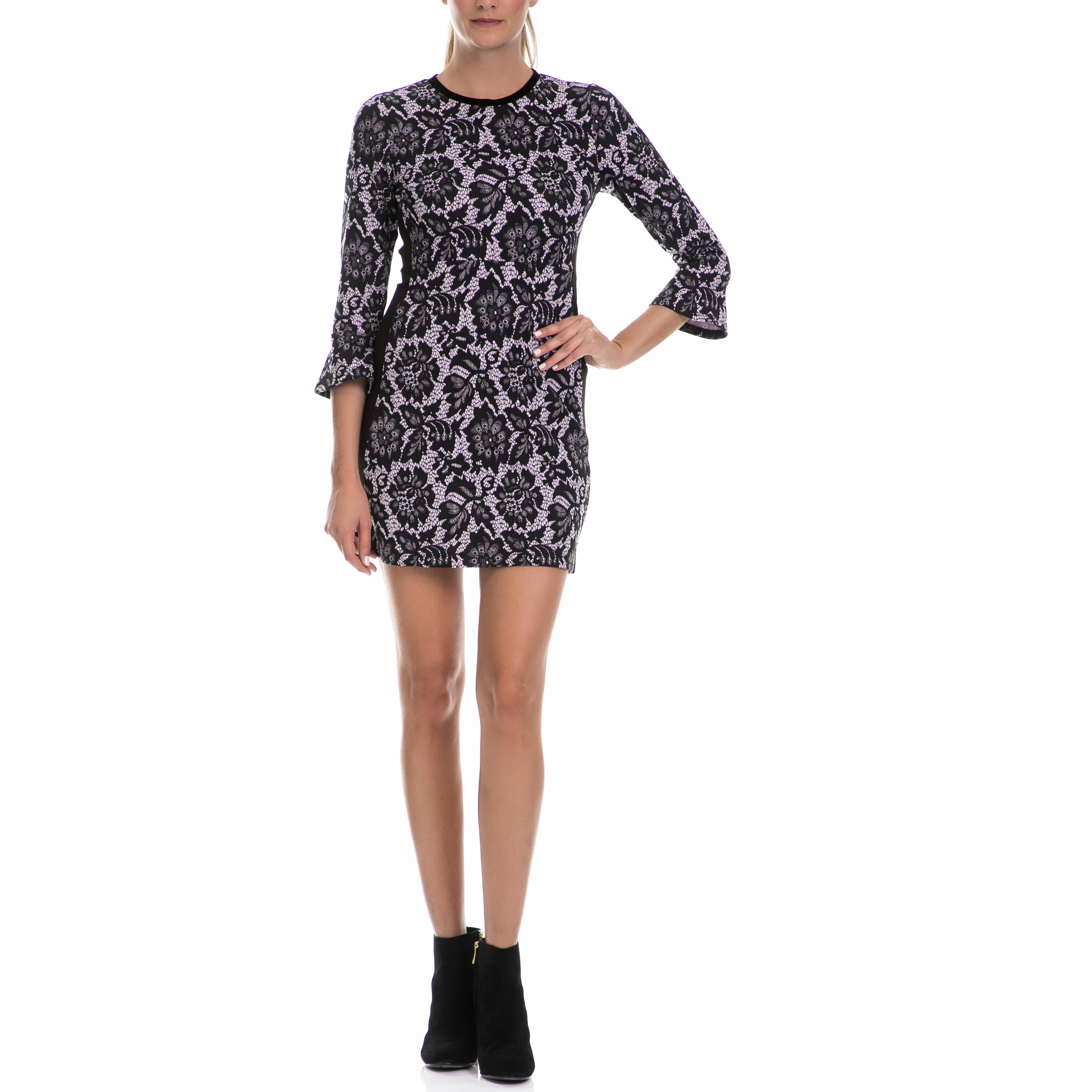 JUICY COUTURE - Φόρεμα JUICY COUTURE μαύρο-λευκό γυναικεία ρούχα φορέματα μίνι