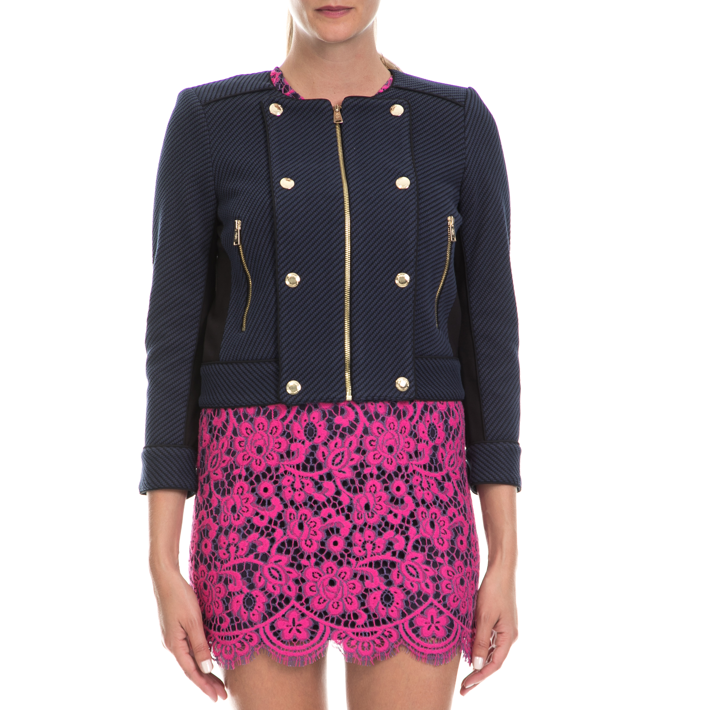 JUICY COUTURE – Γυναικείο σακάκι JUICY COUTURE μπλε