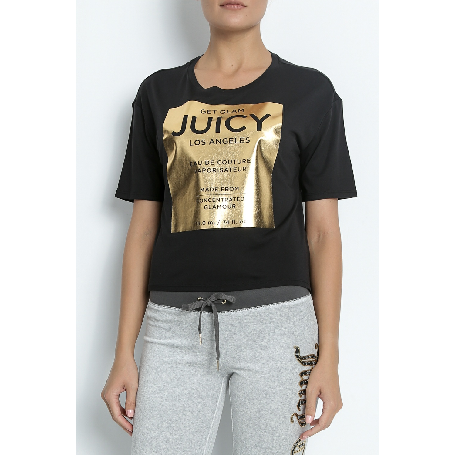 JUICY COUTURE - Γυναικείο t-shirt EAU DE COUTURE GRAPHIC TEE μαύρο