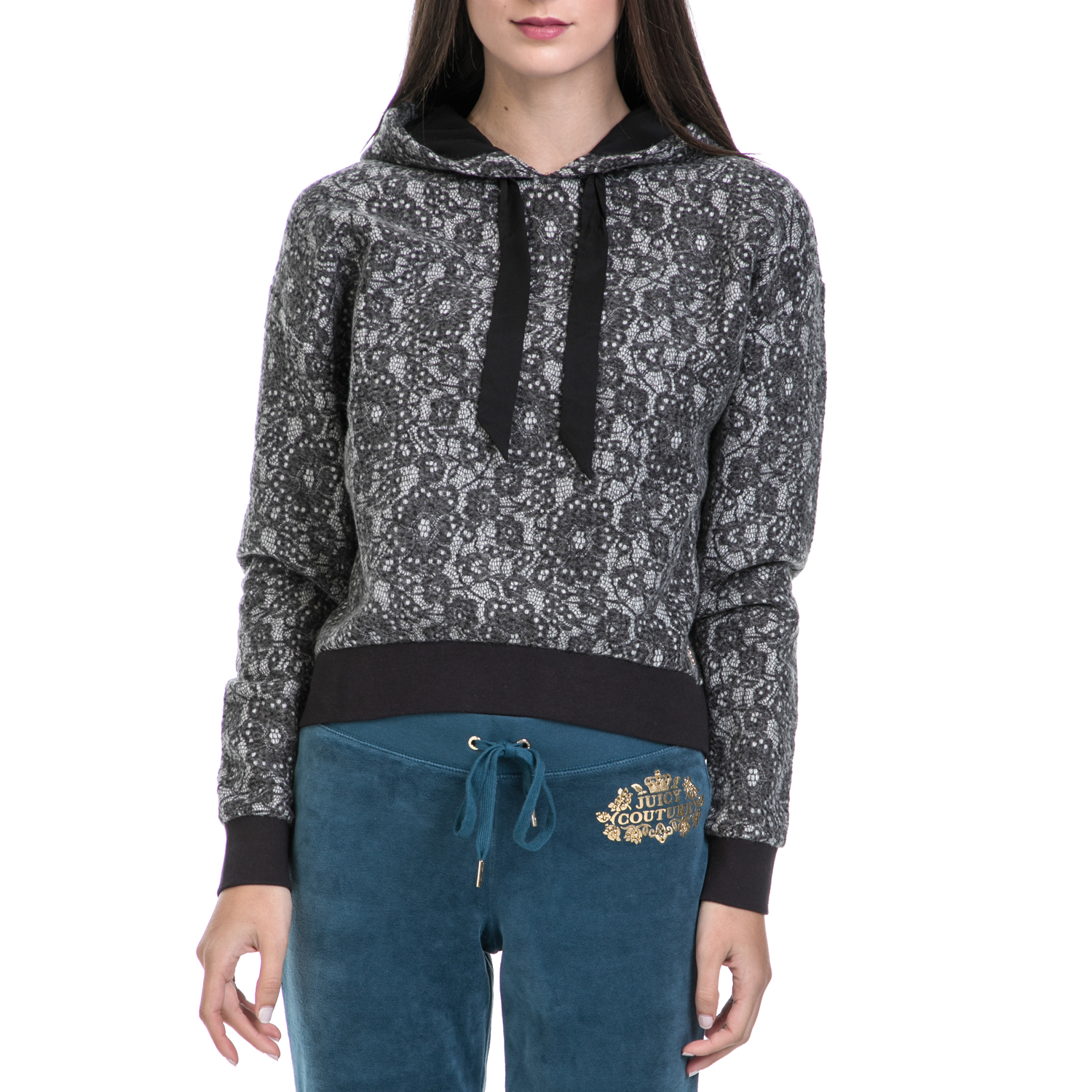 JUICY COUTURE – Γυναικείο φούτερ JUICY COUTURE γκρι