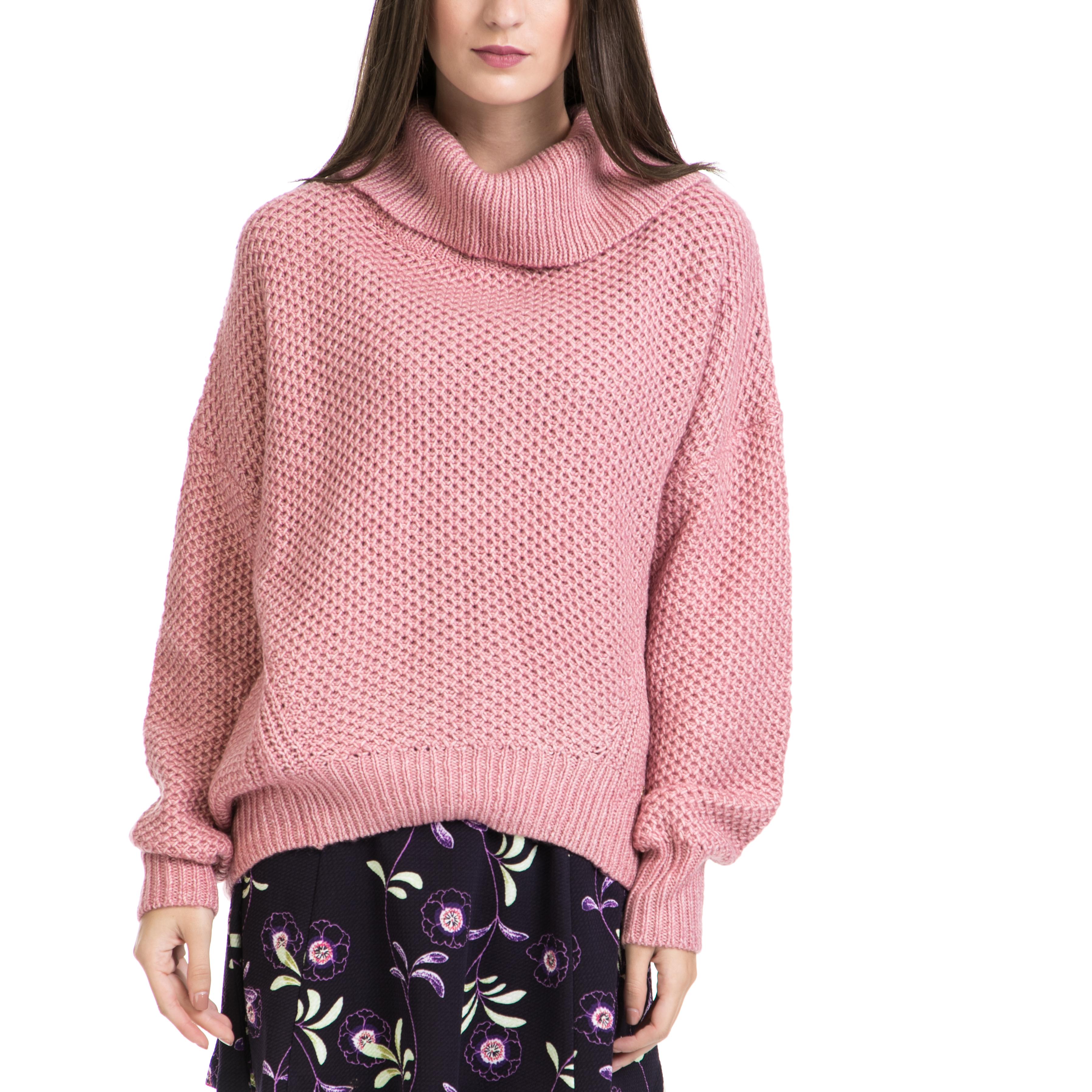 JUICY COUTURE - Γυναικείο πουλόβερ JUICY COUTURE ροζ γυναικεία ρούχα πλεκτά ζακέτες πουλόβερ