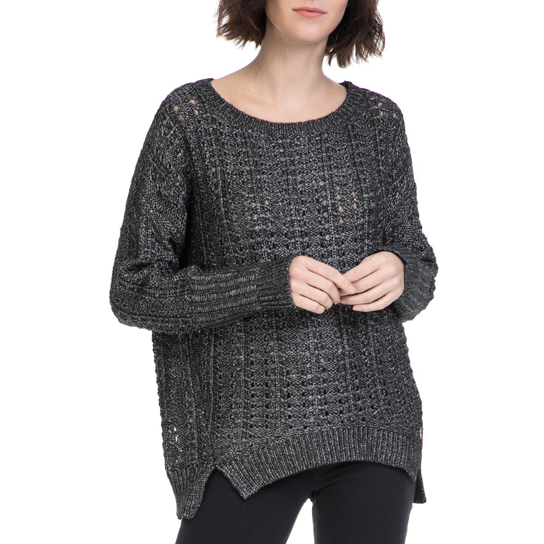JUICY COUTURE - Γυναικείο πουλόβερ JUICY COUTURE γκρι γυναικεία ρούχα πλεκτά ζακέτες πουλόβερ