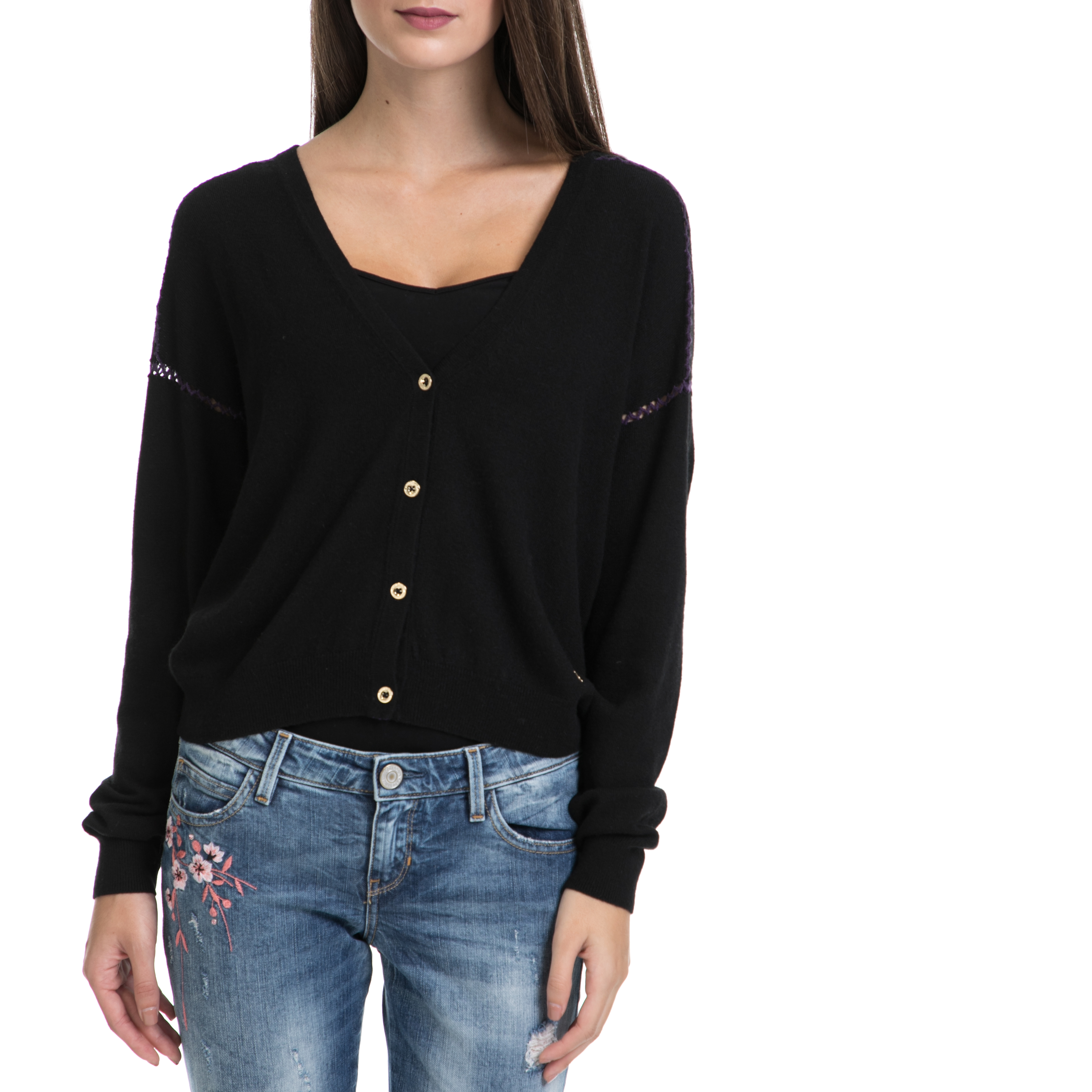JUICY COUTURE – Γυναικεία ζακέτα JUICY COUTURE μαύρη