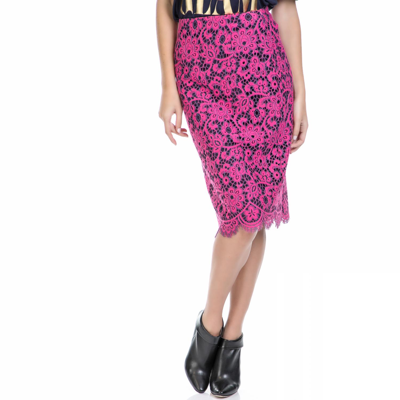 JUICY COUTURE – Γυναικεία φούστα BUCHAREST FLORAL LACE φούξια