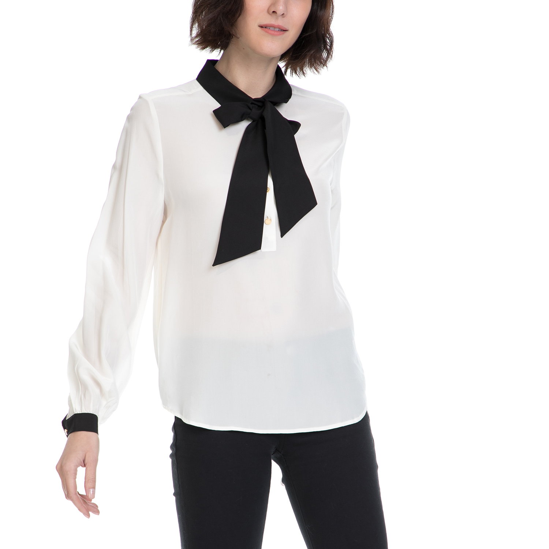 JUICY COUTURE – Γυναικείο πουκάμισο JUICY COUTURE λευκό-μαύρο