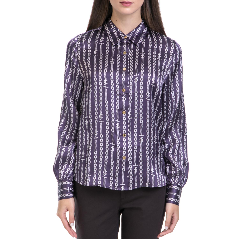 JUICY COUTURE – Γυναικείο πουκάμισο JUICY COUTURE μωβ