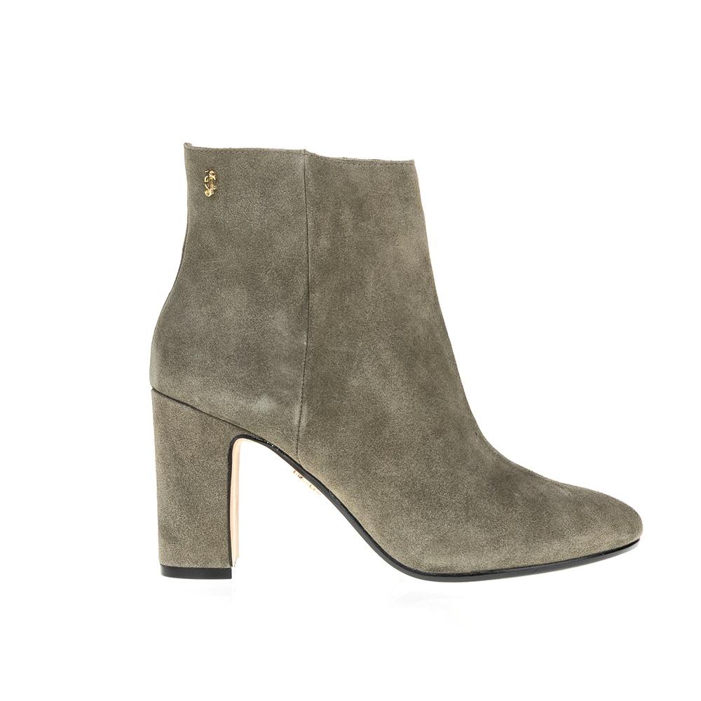 JUICY COUTURE - Γυναικεία μποτάκια JUICY COUTURE λαδί γυναικεία παπούτσια μπότες μποτάκια μποτάκια