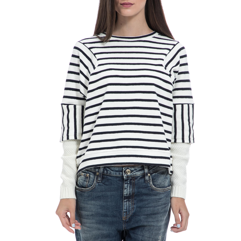 GAS - Γυναικείο πουλόβερ GAS ριγέ γυναικεία ρούχα πλεκτά ζακέτες πουλόβερ