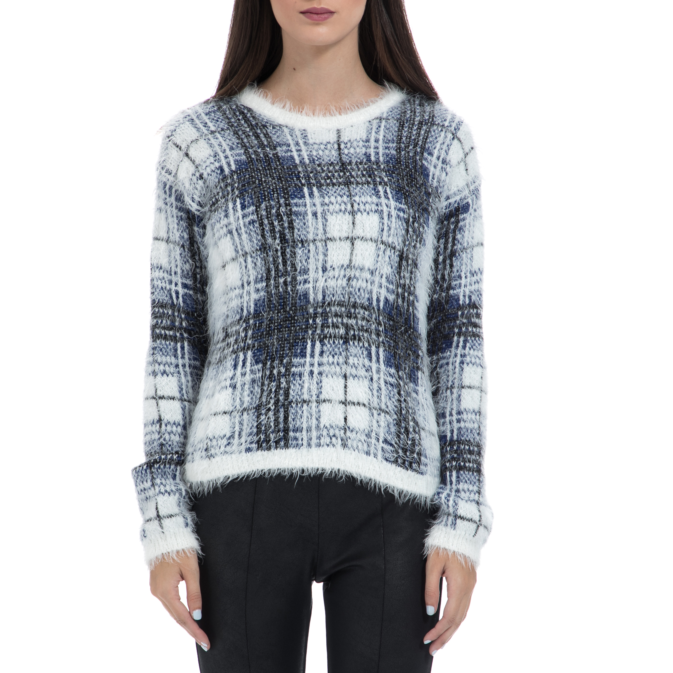 GAS - Γυναικείο πουλόβερ GAS καρό γυναικεία ρούχα πλεκτά ζακέτες πουλόβερ