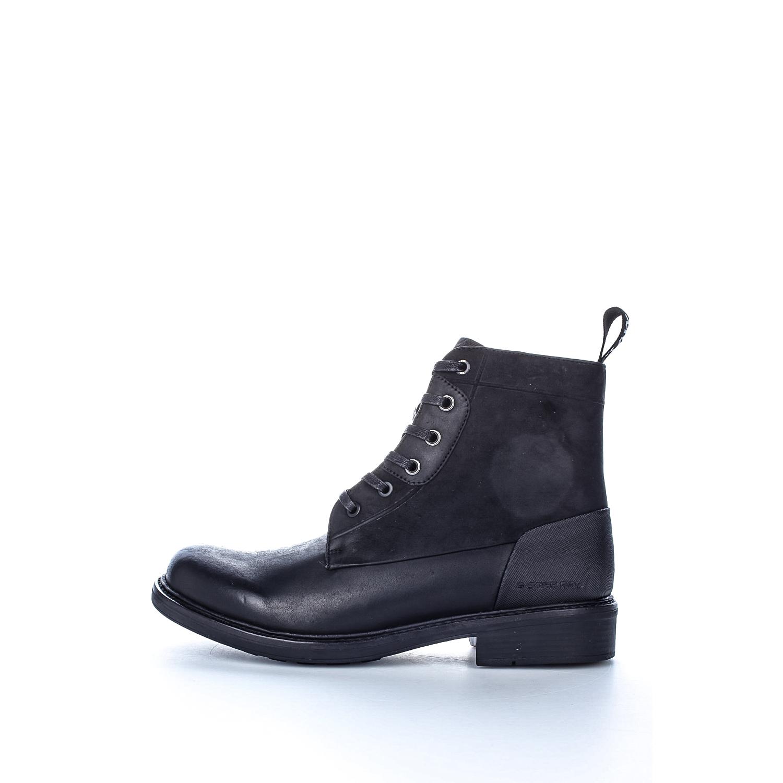 G-STAR RAW - Ανδρικά μποτάκια G-Star Raw Myrow Leather μαύρα ανδρικά παπούτσια μπότες μποτάκια μποτάκια