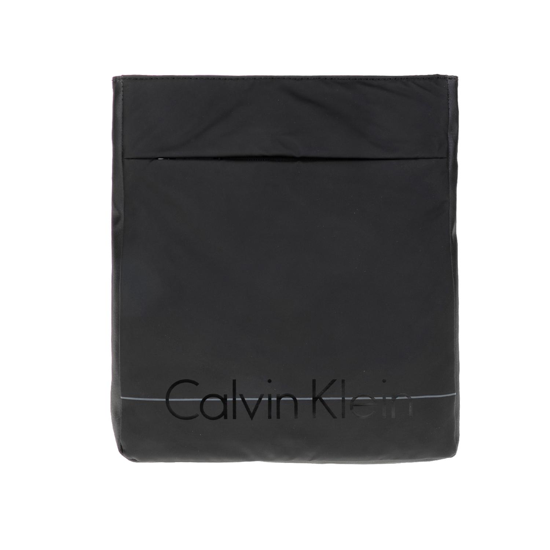 CALVIN KLEIN JEANS – Ανδρική τσάντα LOGAN FLAT CROSSOVER μαύρη