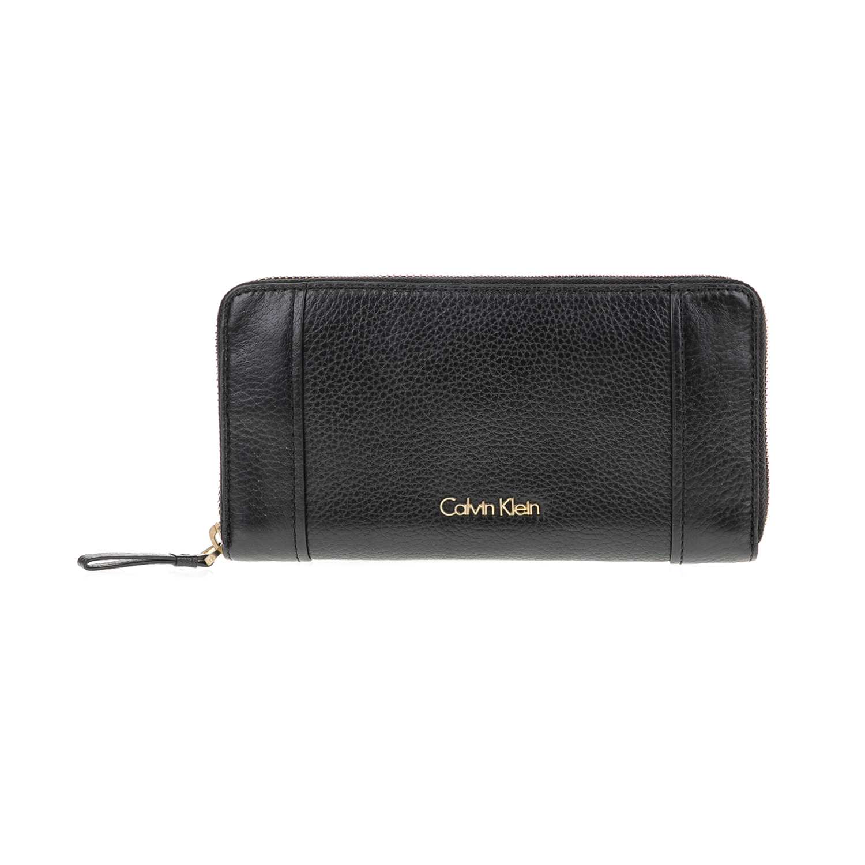CALVIN KLEIN JEANS – Γυναικείο πορτοφόλι K3YLA LARGE ZIPAROUND μαύρο