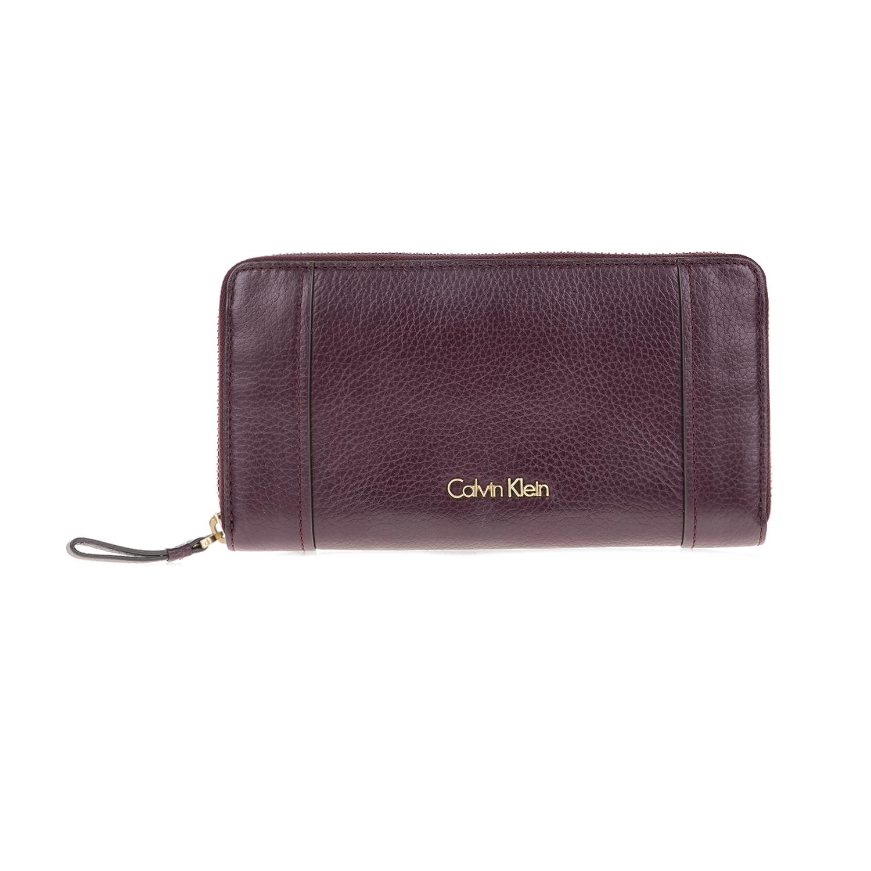 CALVIN KLEIN JEANS – Γυναικείο πορτοφόλι K3YLA LARGE ZIPAROUND μωβ