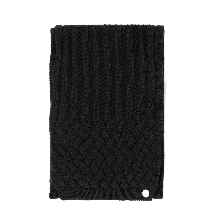 CALVIN KLEIN JEANS - Γυναικείο κασκόλ CALVIN KLEIN JEANS μαύρο γυναικεία αξεσουάρ φουλάρια κασκόλ γάντια