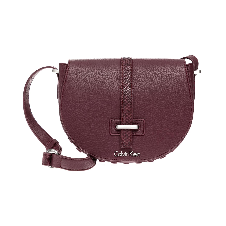 CALVIN KLEIN JEANS – Γυναικεία τσάντα CALVIN KLEIN JEANS μπορντό 1480435.0-00Q3