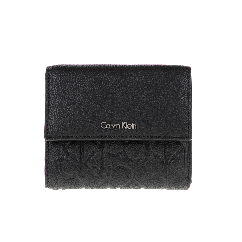 CALVIN KLEIN JEANS – Γυναικείο πορτοφόλι MISHA MEDIUM TRIFOLD μαύρο