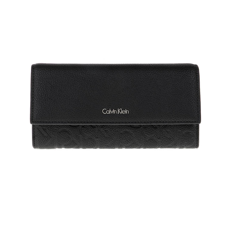 CALVIN KLEIN JEANS – Γυναικείο πορτοφόλι MISHA LARGE TRIFOLD μαύρο