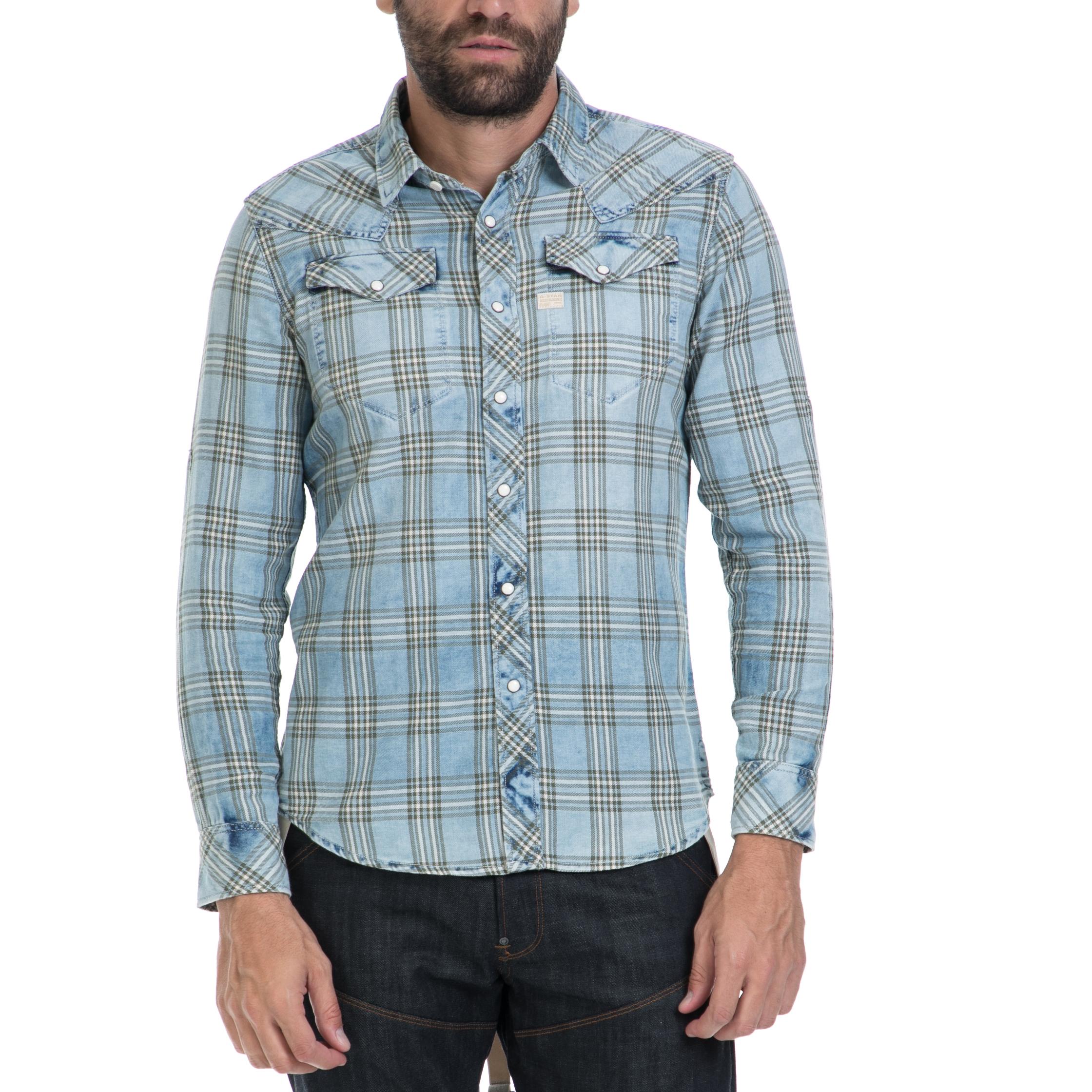 G-STAR RAW – Αντρικό πουκάμισο G-STAR RAW μπλε