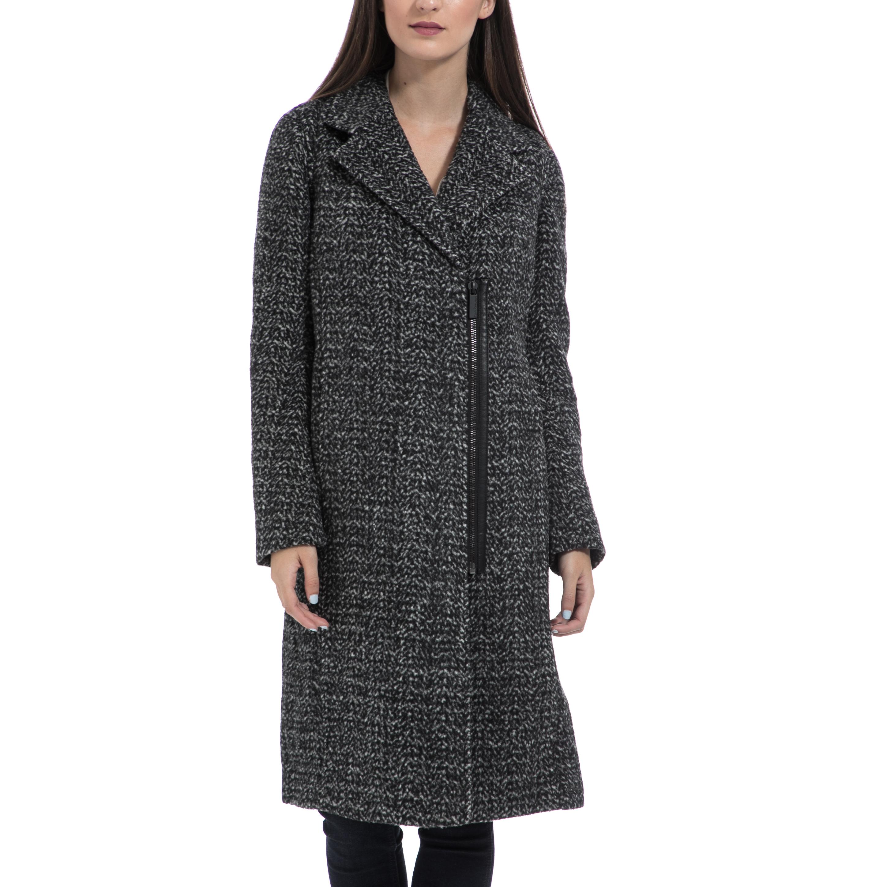 CALVIN KLEIN JEANS - Γυναικείο παλτό CALVIN KLEIN JEANS γκρι γυναικεία ρούχα πανωφόρια παλτό