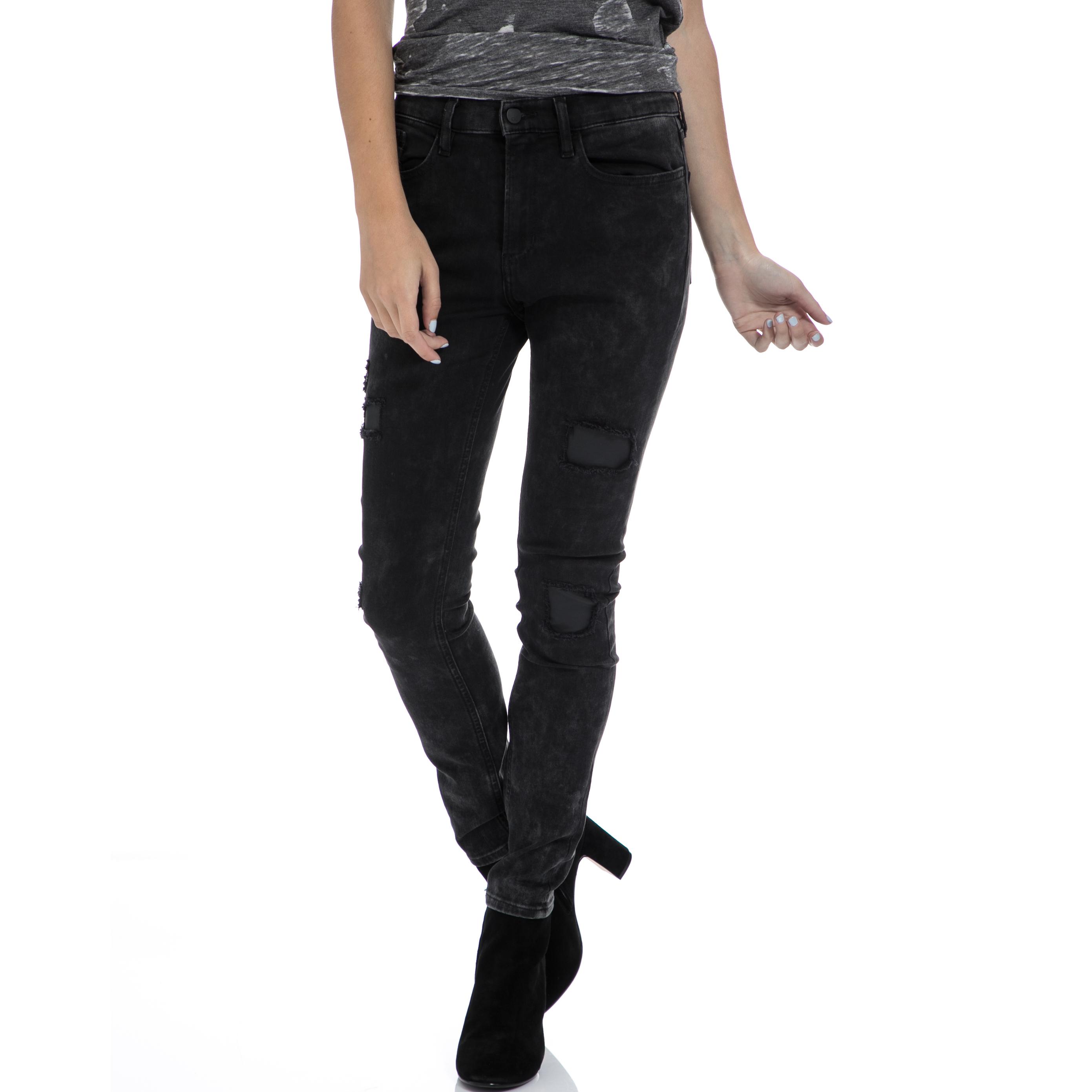 CALVIN KLEIN JEANS – Γυναικείο τζιν παντελόνι CALVIN KLEIN JEANS μαύρο