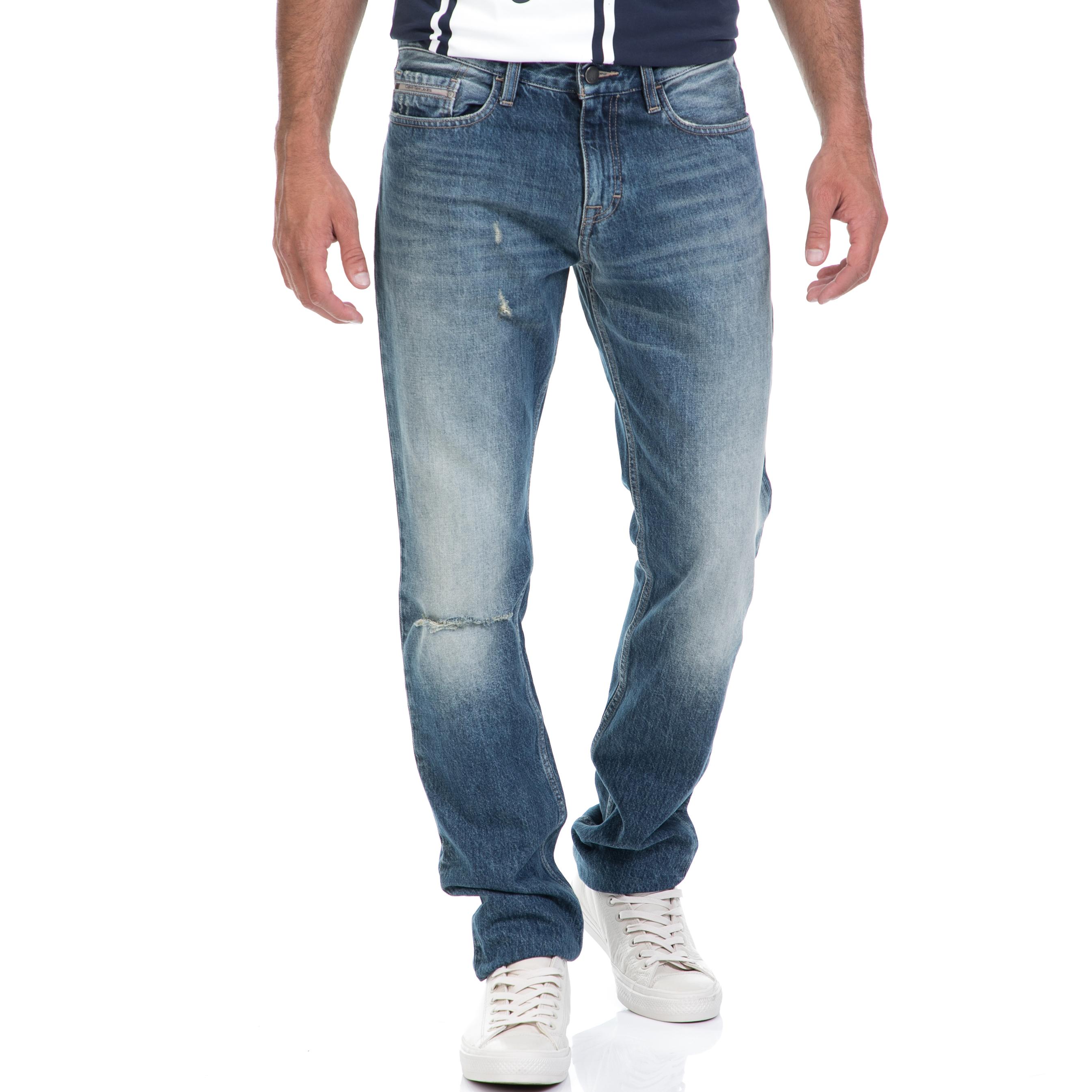 CALVIN KLEIN JEANS - Αντρικό τζιν παντελόνι CALVIN KLEIN JEANS μπλε ανδρικά ρούχα παντελόνια jean