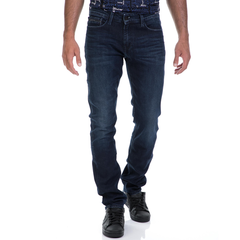 CALVIN KLEIN JEANS – Αντρικό τζιν παντελόνι CALVIN KLEIN JEANS μπλε