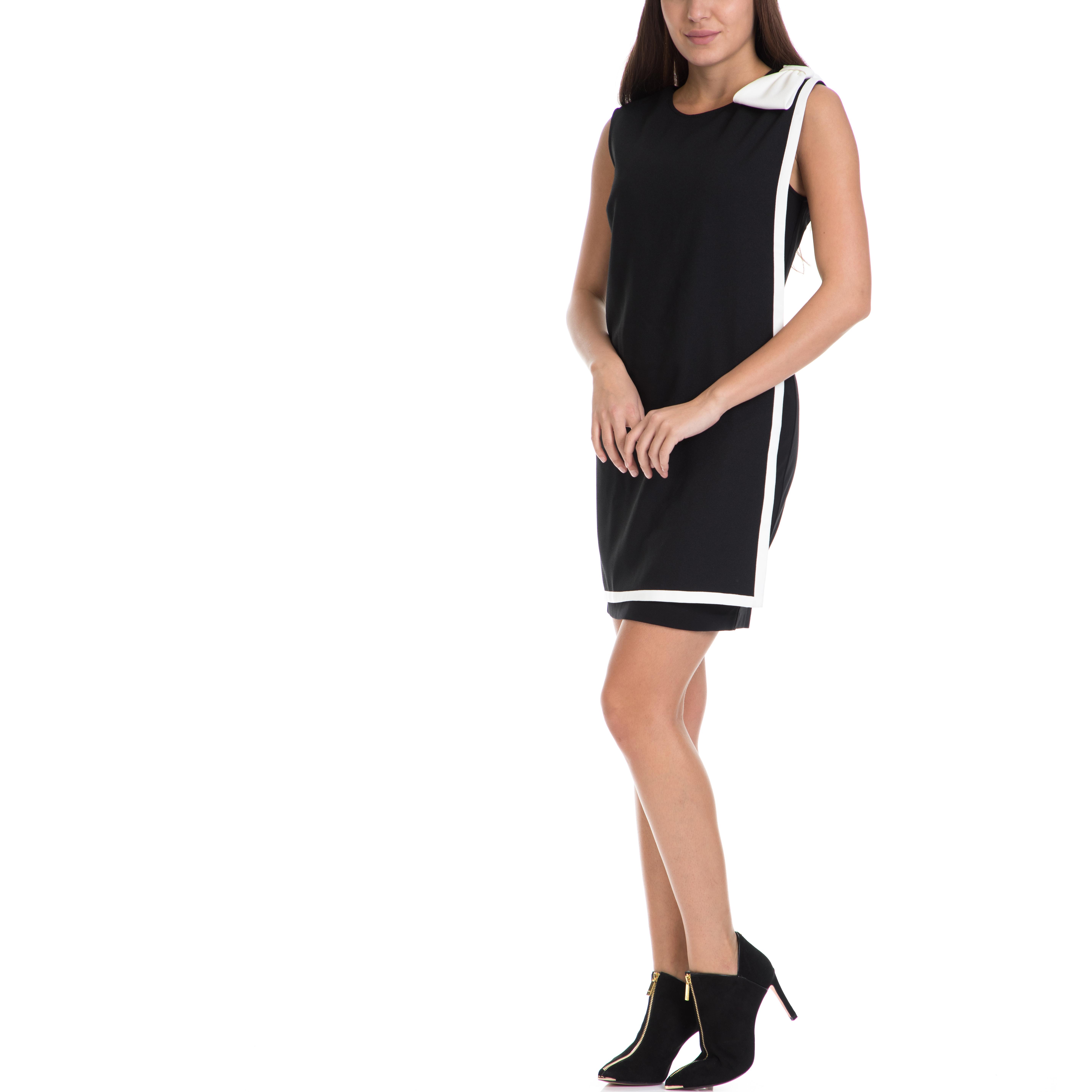 TED BAKER - Γυναικείο μίνι φόρεμα ELIJA TED BAKER μαύρο-λευκό γυναικεία ρούχα φορέματα μίνι