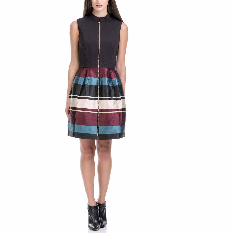 TED BAKER - Φόρεμα PERSIS ριγέ γυναικεία ρούχα φορέματα μίνι