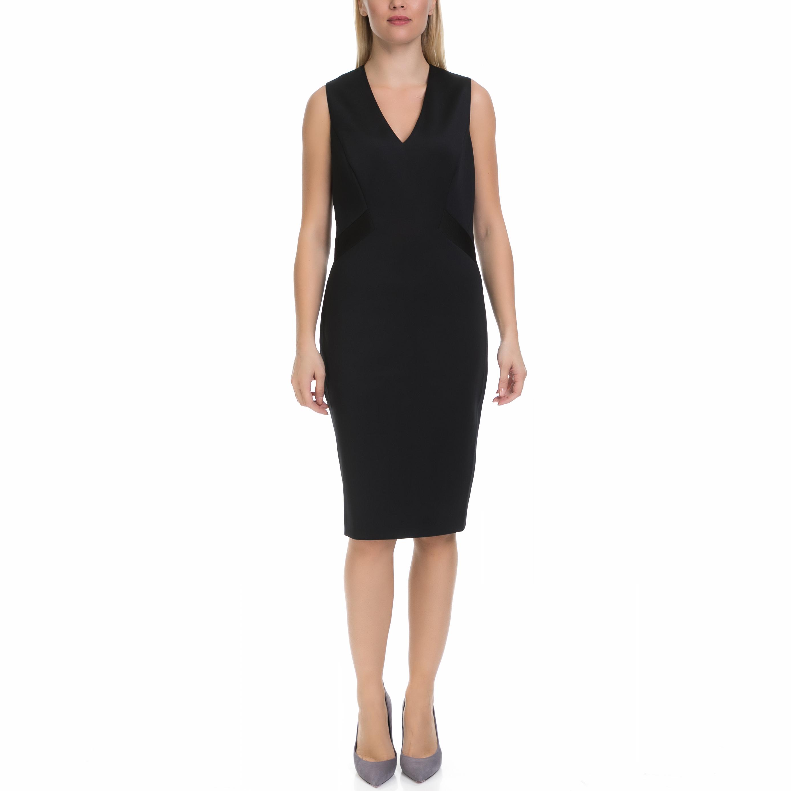 TED BAKER - Γυναικείο φόρεμα AALEYAD TED BAKER μαύρο γυναικεία ρούχα φορέματα μέχρι το γόνατο