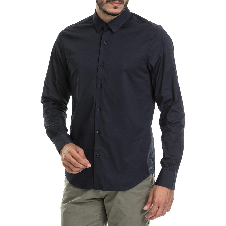 GARCIA JEANS - Ανδρικό πουκάμισο Garcia Jeans μπλε men s clothes on black friday