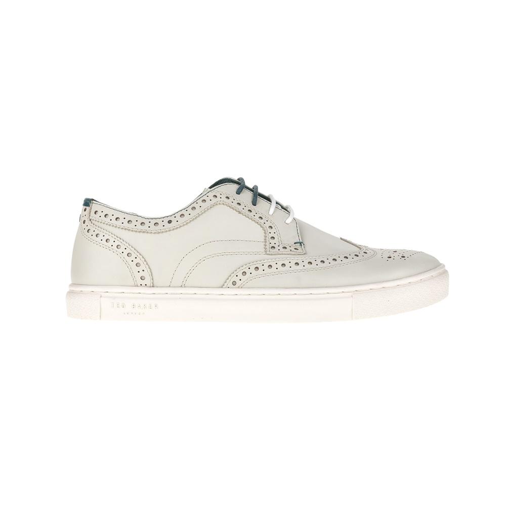 TED BAKER - Ανδρικά παπούτσια TED BAKER RACHET λευκά ανδρικά παπούτσια μοκασίνια loafers